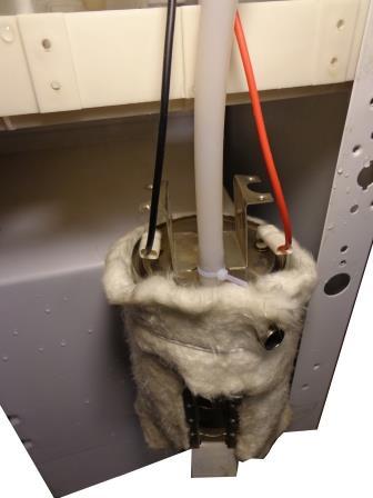 подключаем силовой провод питания нагревательного бака