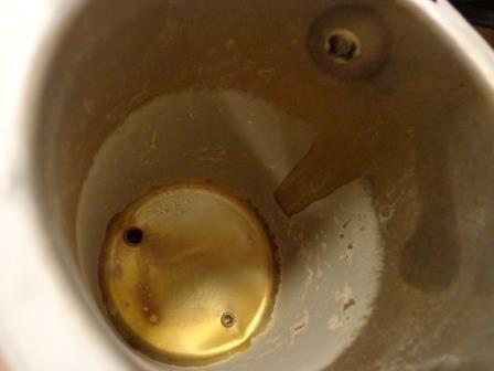 чайник с накипью вид изнутри